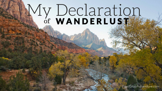 Declaration of Wanderlust