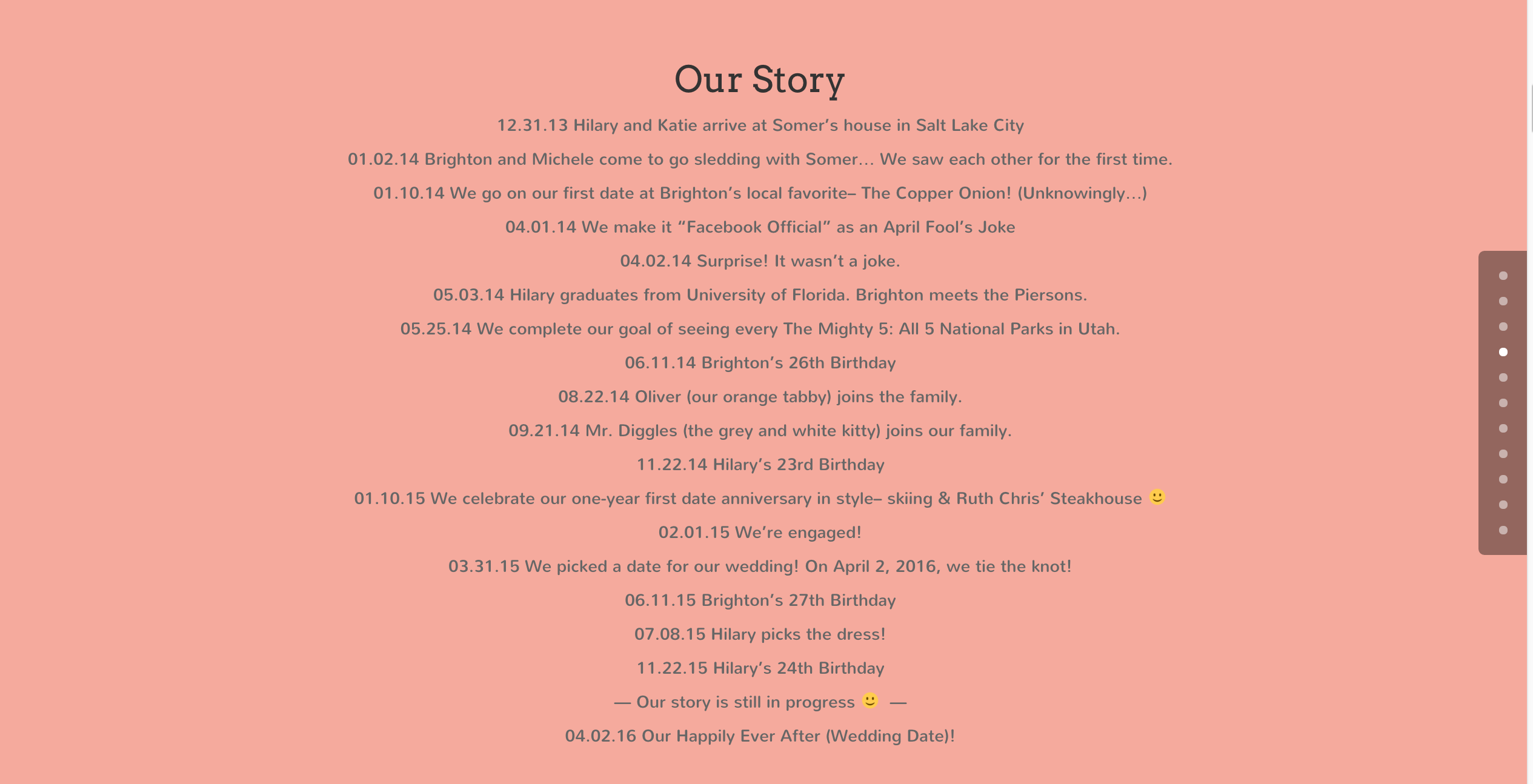 Our Story - Wedding Story