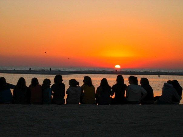 sunset at ft desoto