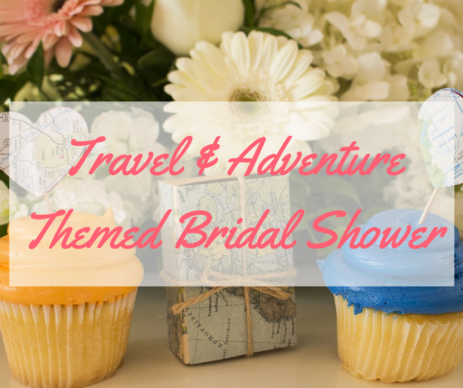 travel adventure themed bridal shower wedding