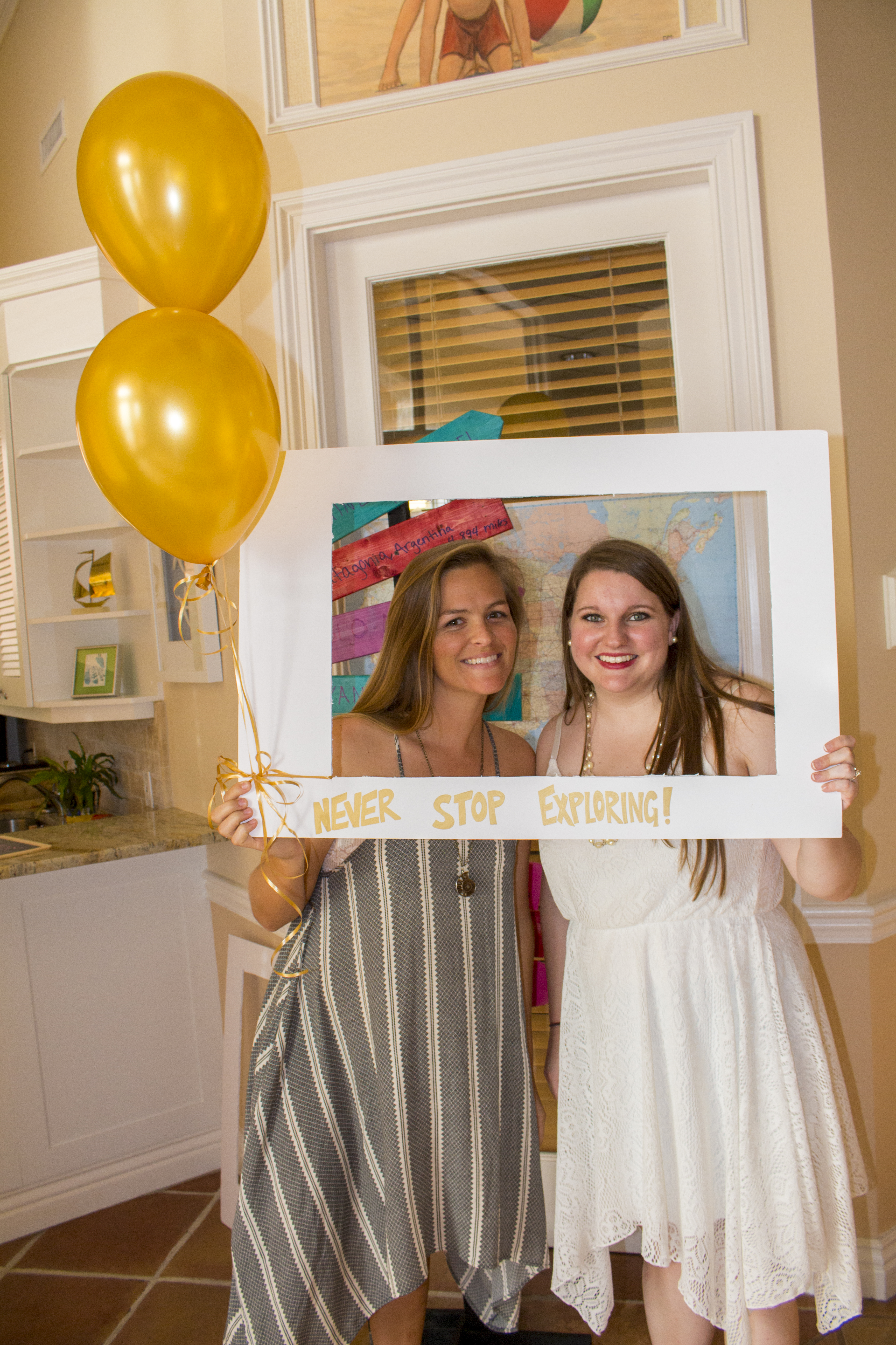 travel and adventure themed bridal shower