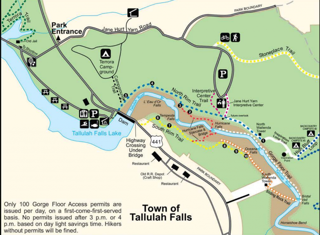 Tallulah Gorge Map