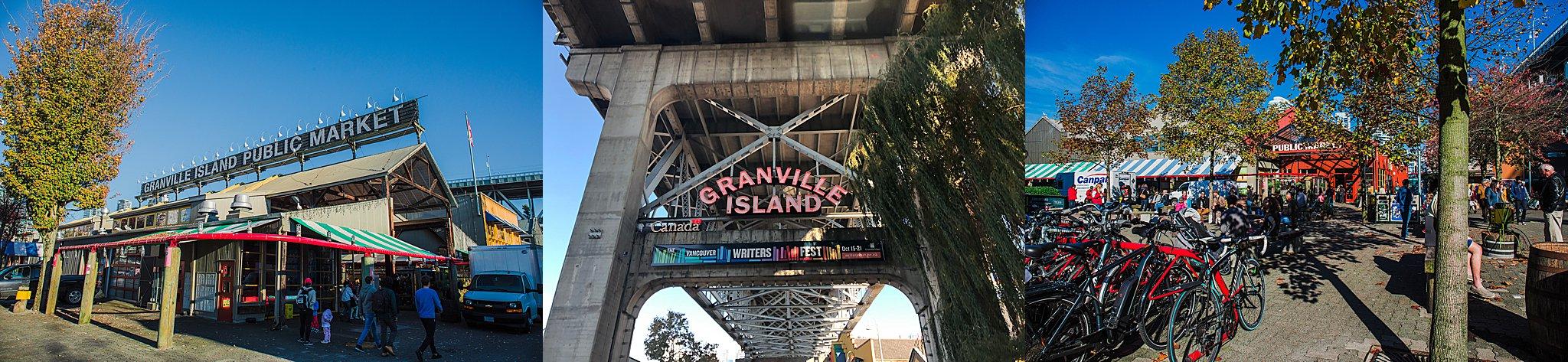 vancouver, british columbia, granville island, granville island public market, prospect point, stanley park, deep cove